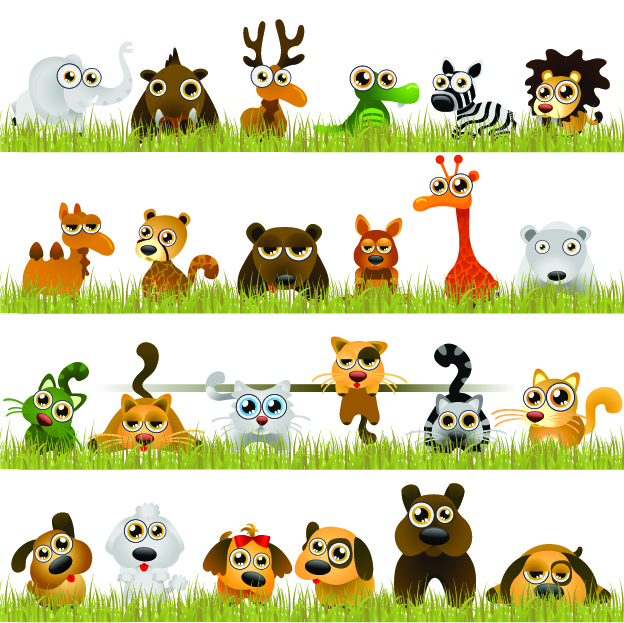 free vector Interesting little animals vector