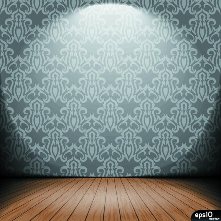 free vector Interior wallpaper 01 vector