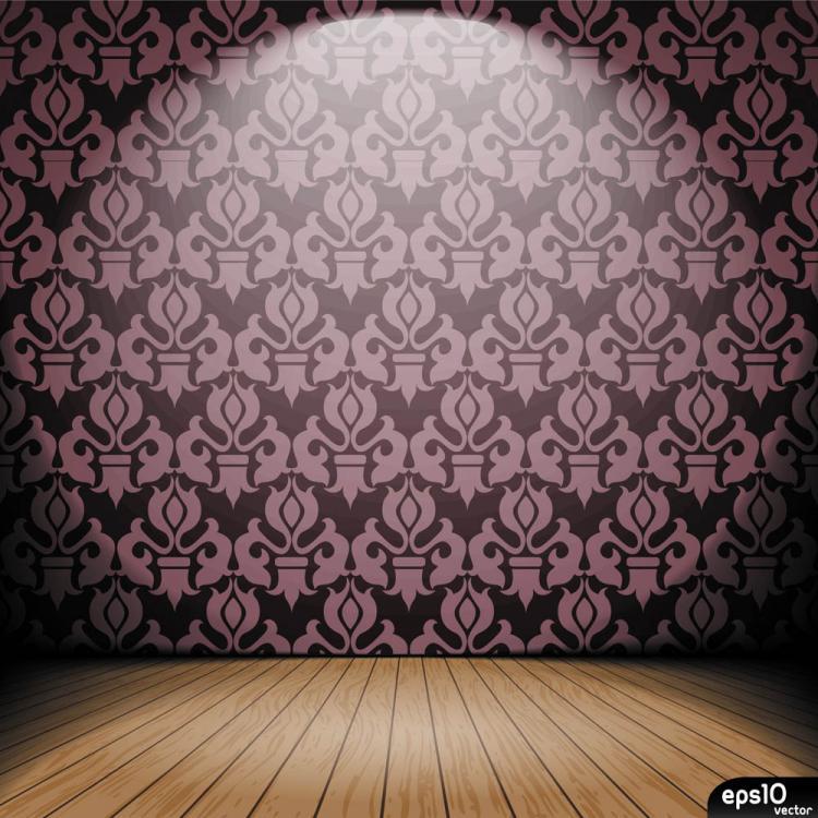 free vector Interior wallpaper 05 vector