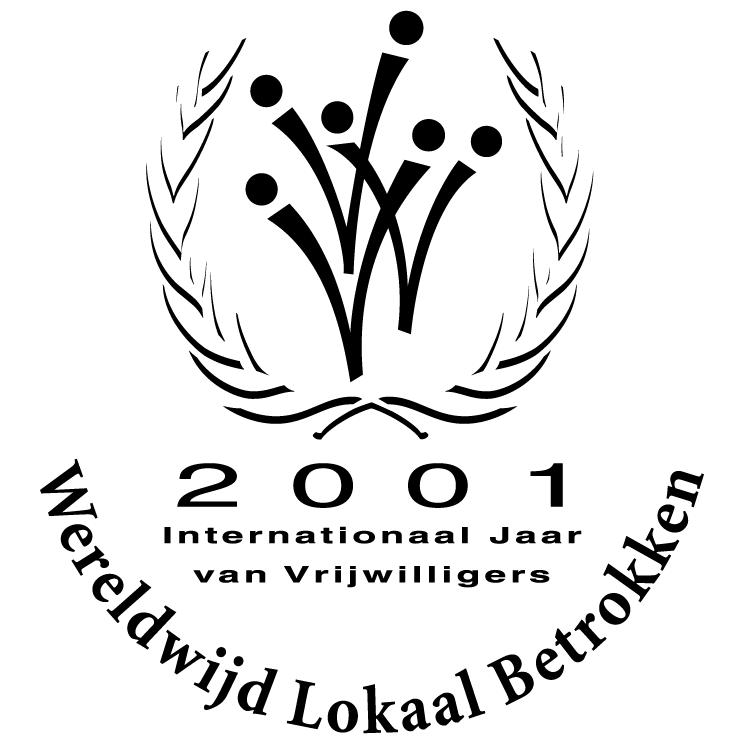 free vector Internationaal jaar van vrijwilligers 2001