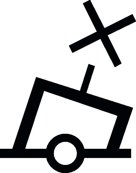 free vector International Can Buoy Symbol clip art