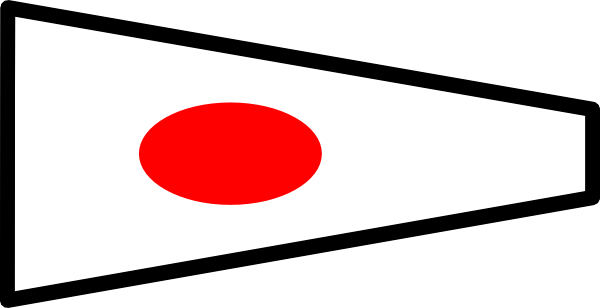 free vector International Maritime Signal Flag 1 clip art