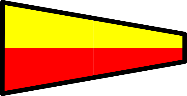 free vector International Maritime Signal Flag 7 clip art