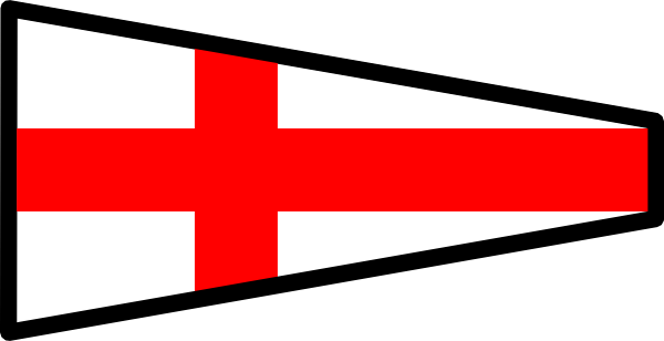 free vector International Maritime Signal Flag 8 clip art