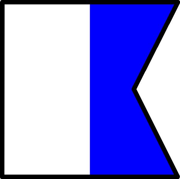 free vector International Maritime Signal Flag Alpha clip art