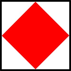 free vector International Maritime Signal Flag Foxtrot clip art