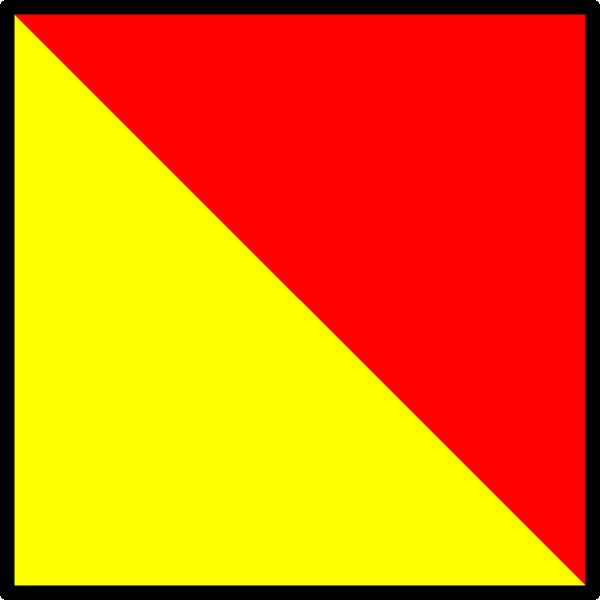 free vector International Maritime Signal Flag Oscar clip art