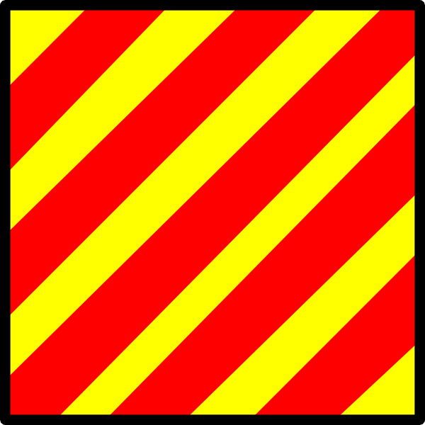 free vector International Maritime Signal Flag Yankee clip art