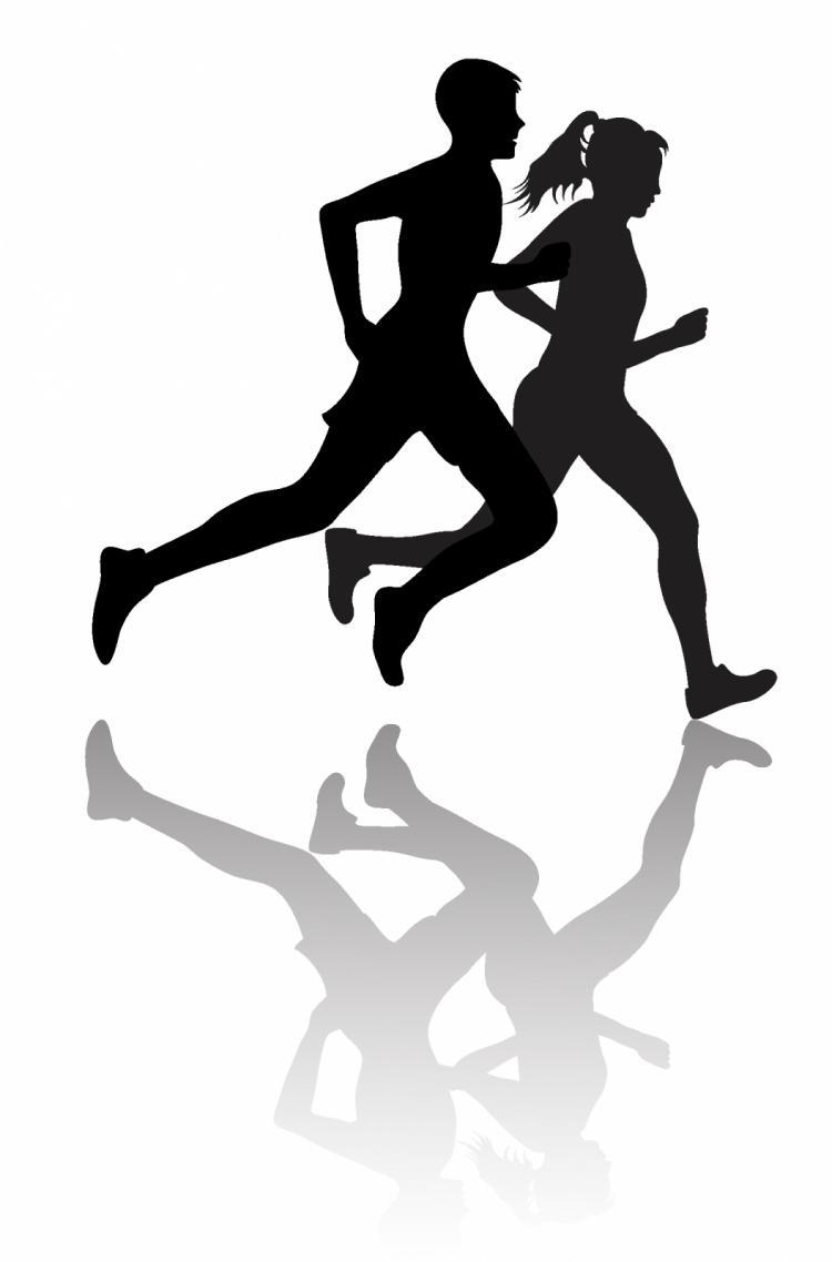 free vector Interracial couple jogging or exercising
