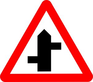 free vector Intersecting Road Sign clip art