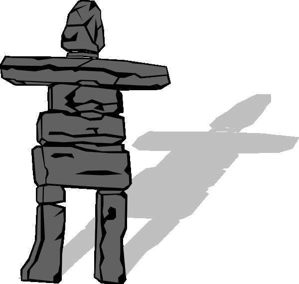 free vector Inuit Inukshuk clip art