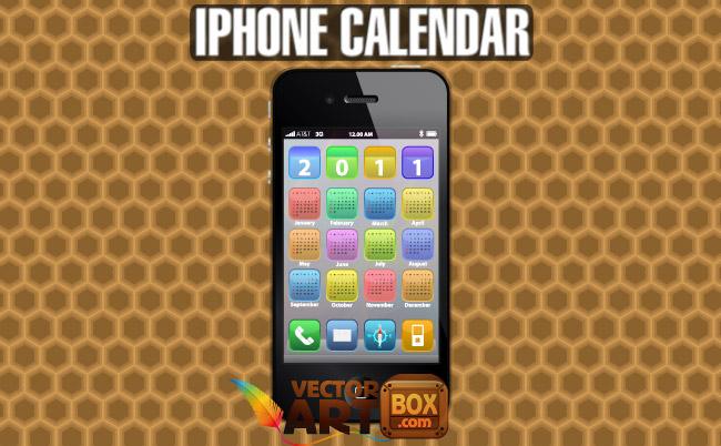 free vector IPhone Calendar