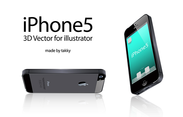 free vector IPhone5 3D Vector for illustrator