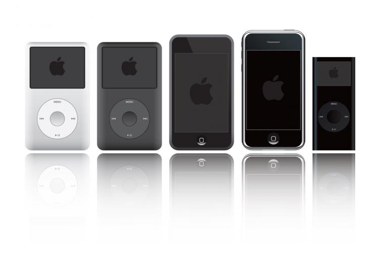 free vector IPod and iPhone Vector