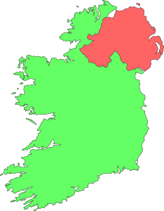 free vector Ireland Contour Map clip art