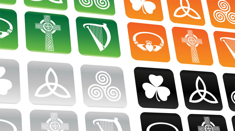 free vector Irish and Celtic Buttons
