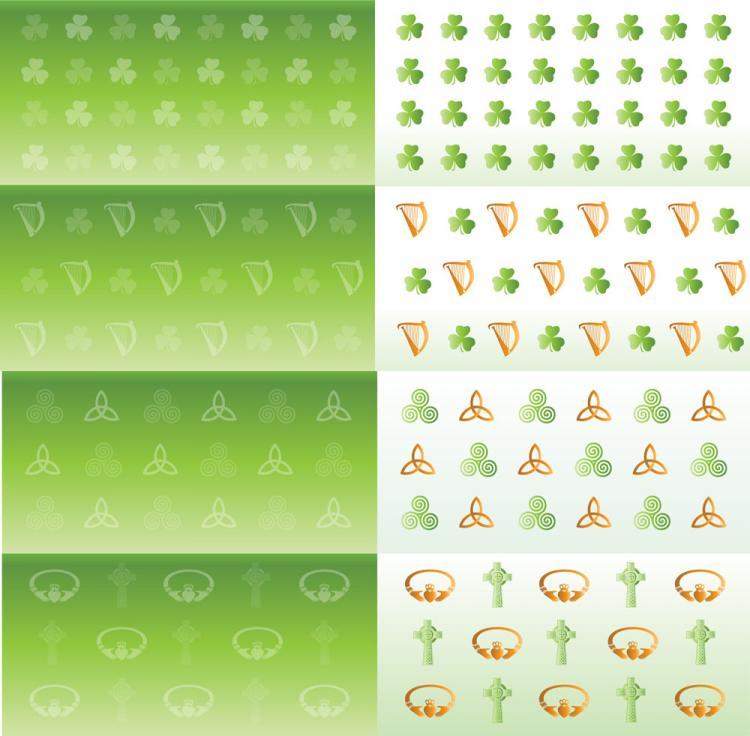 Irish celtic symbol vector set backgrounds buttons patterns free free vector irish celtic symbol vector set backgrounds buttons patterns buycottarizona Gallery