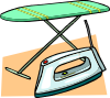 free vector Ironing Board And Iron clip art