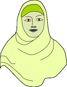 free vector Islamic Hijab Vail Headscarf clip art