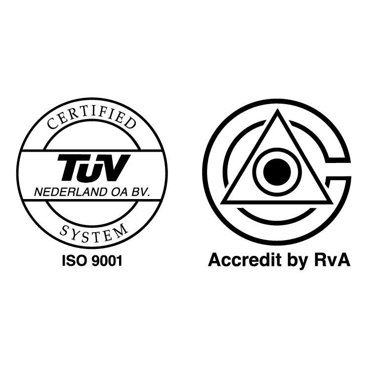 free vector Iso 9001 vca tuv