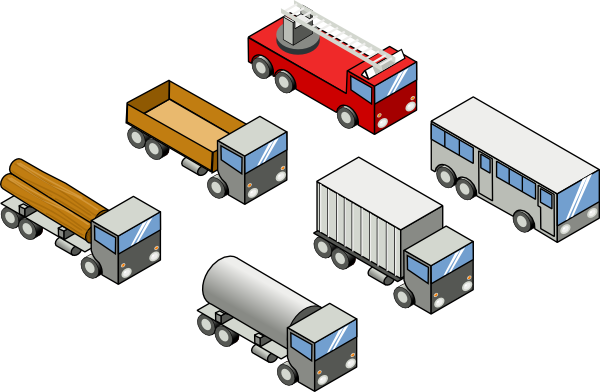 free vector Isometric Vehicles clip art