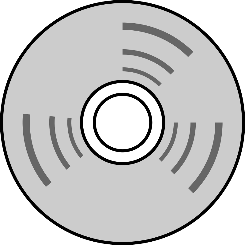 free vector It-disk-line drawing