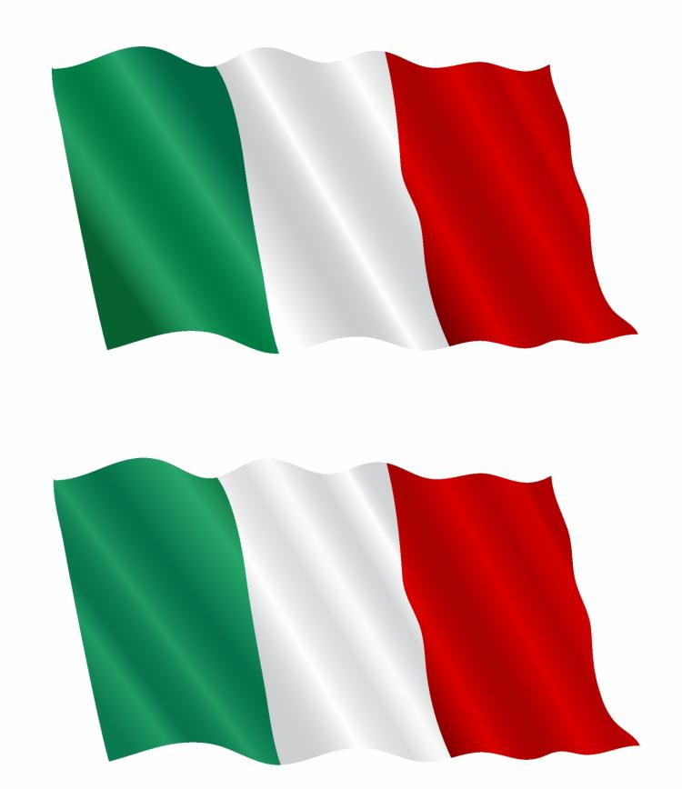 Italian Flag: Italian Flag Flying In The Wind Free Vector / 4Vector