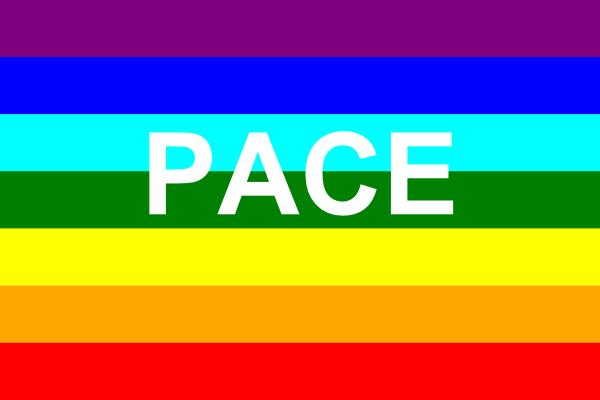 free vector Italian Peace Flag clip art