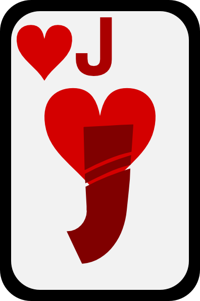 free vector Jack Of Hearts clip art