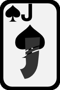 free vector Jack Of Spades clip art