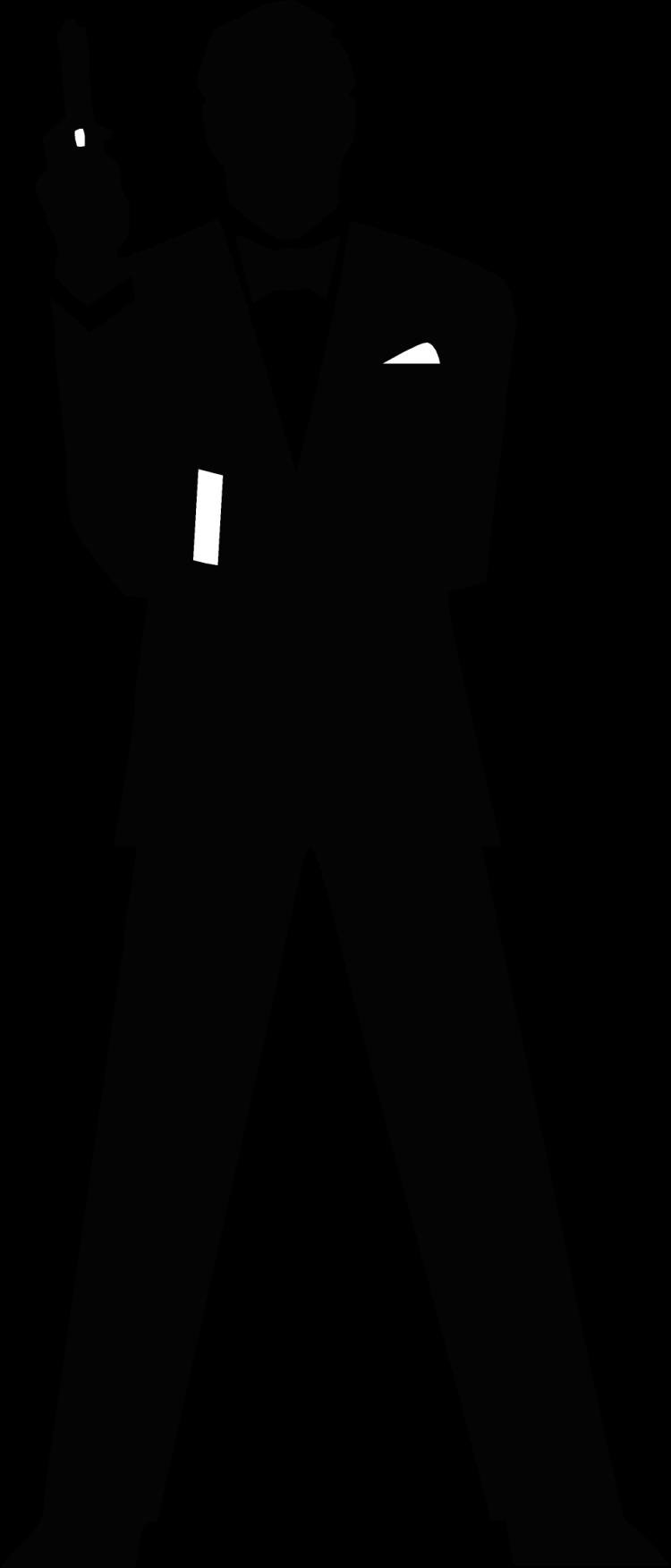 free vector James Bond Secret Agent 007 Black & White Silo