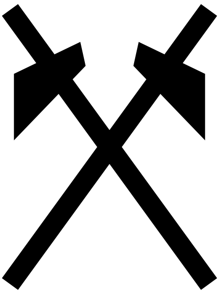 free vector Japanese Map Symbol Mine clip art