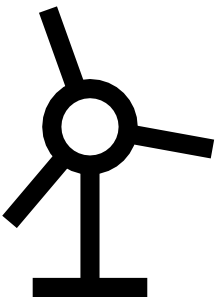 free vector Japanese Map Symbol Windmill clip art