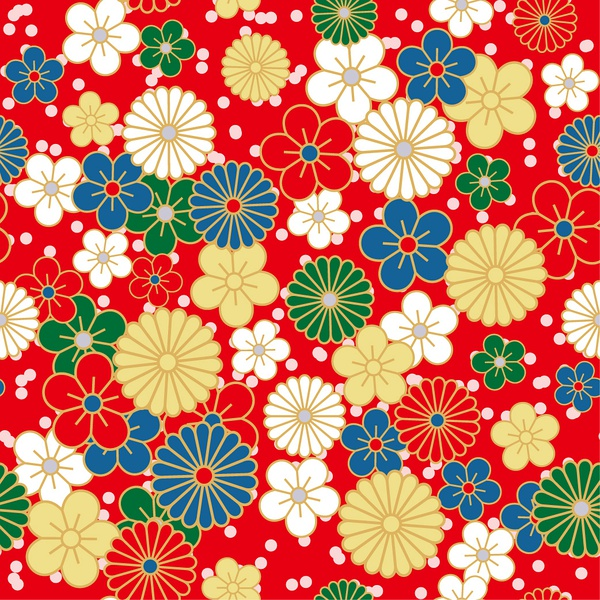 Japanese pattern background (17836) Free AI Download / 4 Vector