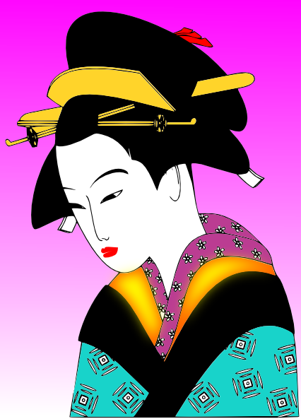 free vector Japanese Woman clip art