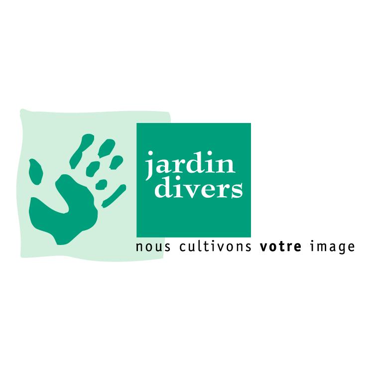 Jardin divers free vector 4vector for Logo jardin