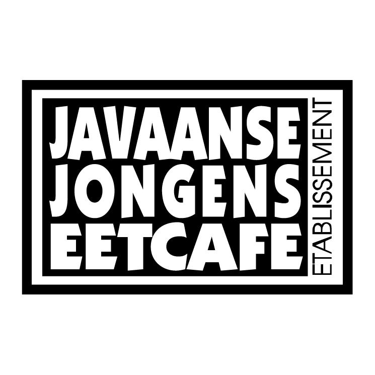 free vector Javaanse jongens eetcafe