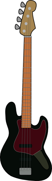 Jazz Bass Guitar clip art Free Vector / 4Vector