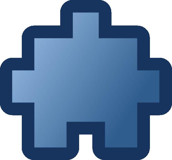 free vector Jean Victor Balin Icon Puzzle Blue clip art