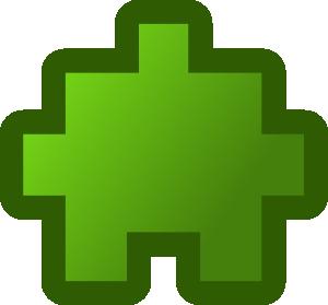 free vector Jean Victor Balin Icon Puzzle Green clip art