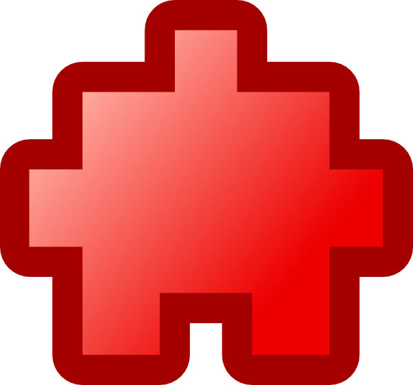 free vector Jean Victor Balin Icon Puzzle Red clip art