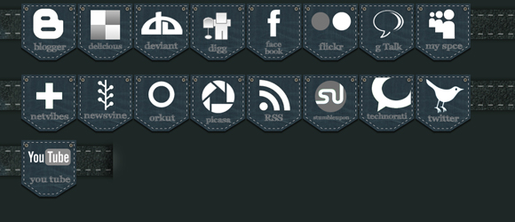 free vector JEANS SOCIAL MEDIA ICON PACK