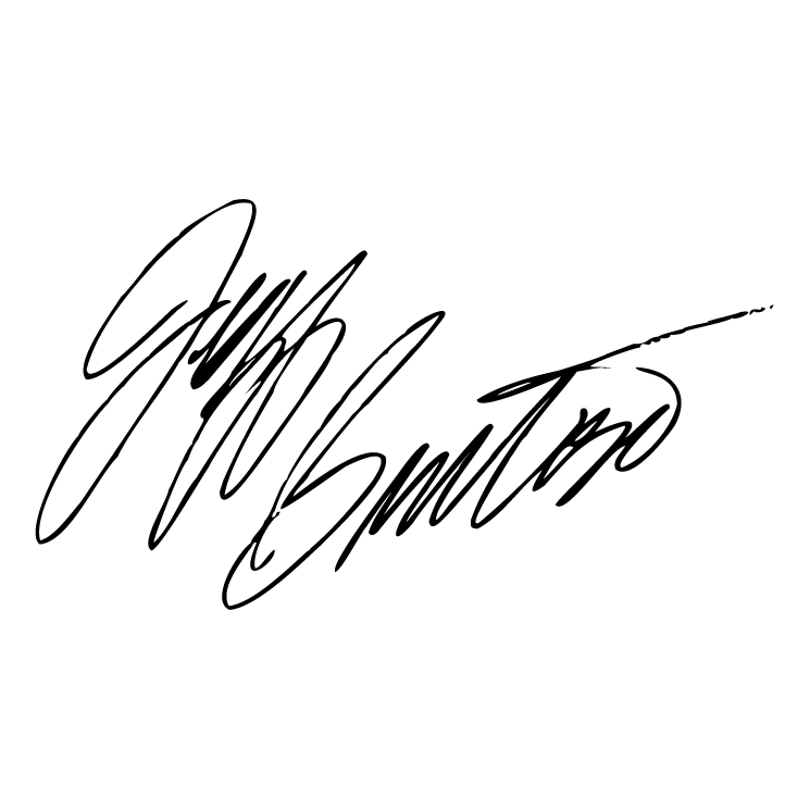 free vector Jeff burton signature