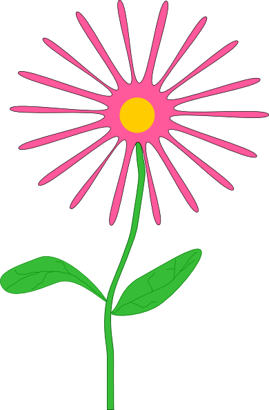 free vector Jenni Whimsical Pink Flower clip art