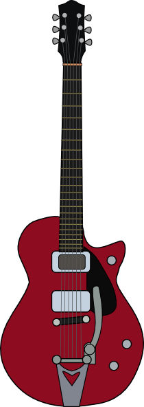 free vector Jet Firebird Guitar clip art