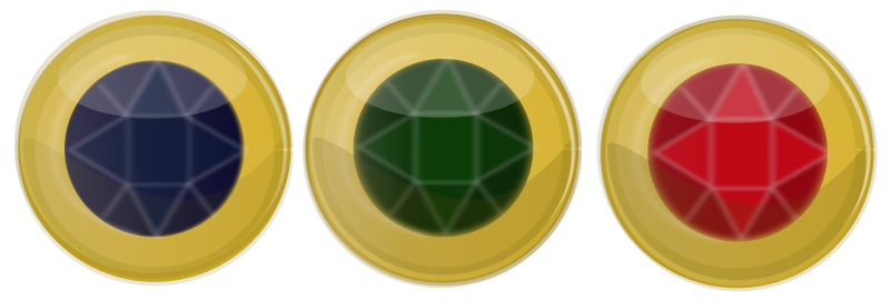 free vector Jewel Button Icons