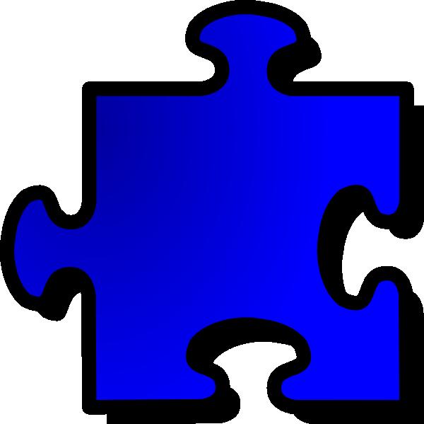 free vector Jigsaw Blue Piece clip art