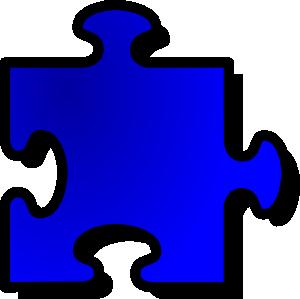 free vector Jigsaw Blue Puzzle clip art