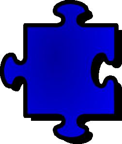 free vector Jigsaw Blue Puzzle Piece clip art