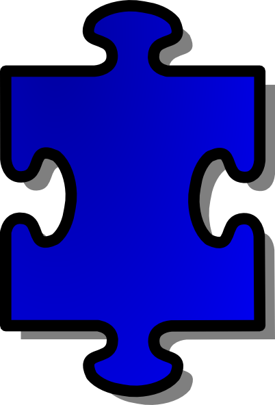 free vector Jigsaw Blue Puzzle Piece clip art